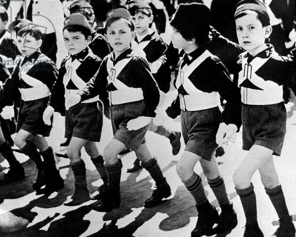 Parade of the sons of the she-wolf (children) fascist organization in Italy in the 20's