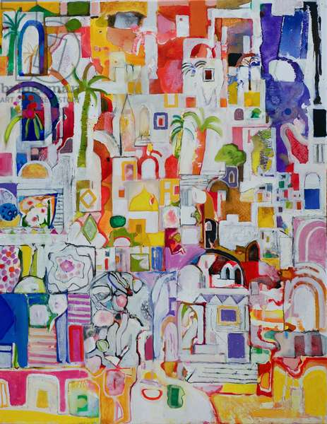 Arab Quarter (oil on canvas)
