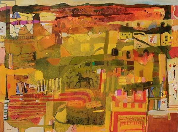 Excavation (oil on canvas)