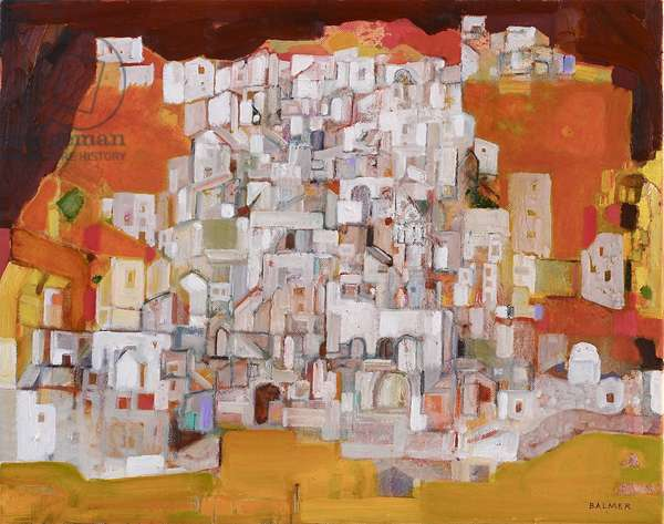 Hill Town- Aegean (oil on canvas)
