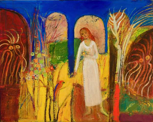 St Frances (oil on canvas)