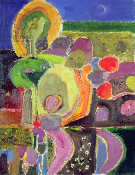Evening garden, 2004 (oil on canvas)