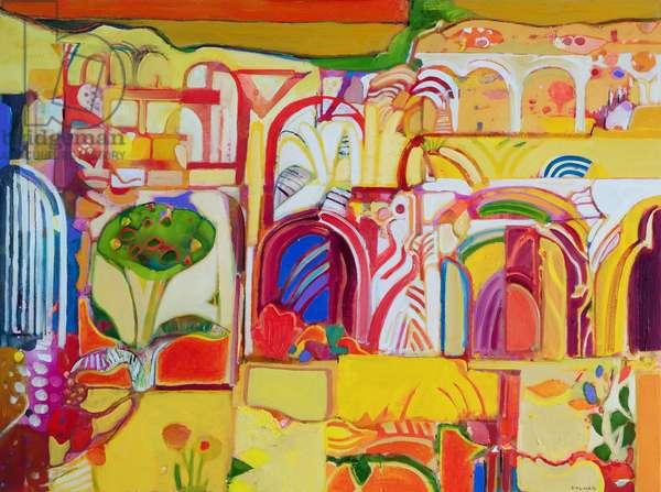 Desert Garden (oil on canvas)