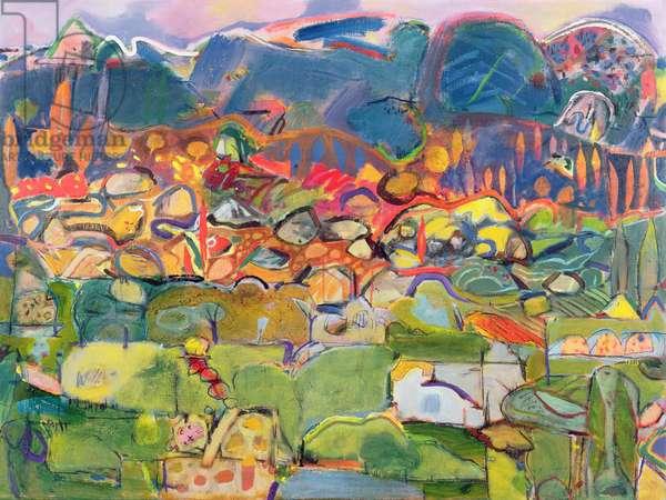 Majorca, 1995 (oil on canvas)
