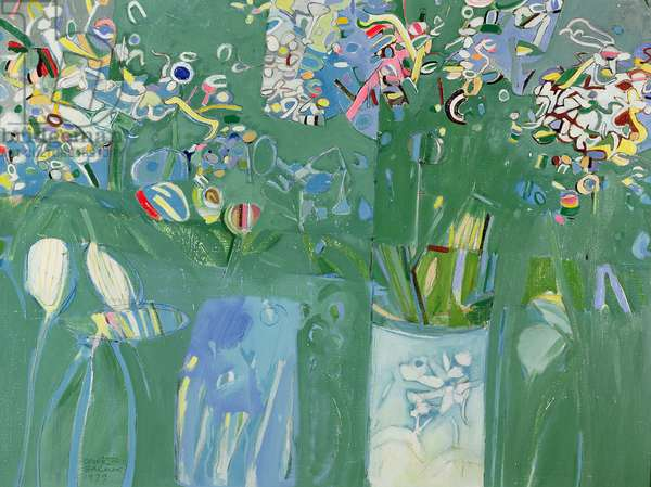 Wild flowers, 1979 (oil on canvas)
