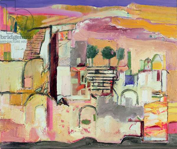 Derelict house: Greece, 2007-08 (oil on canvas)