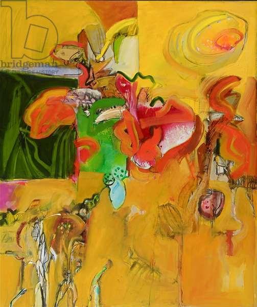 Desert Orchid 2 (oil on canvas)