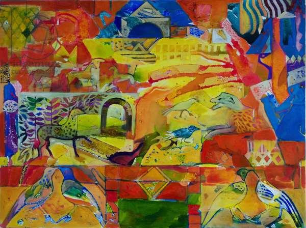 Palimpsest (oil on canvas)