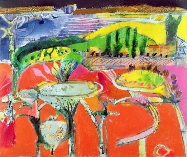 Landscape: Orvieto, 1997 (oil on canvas)