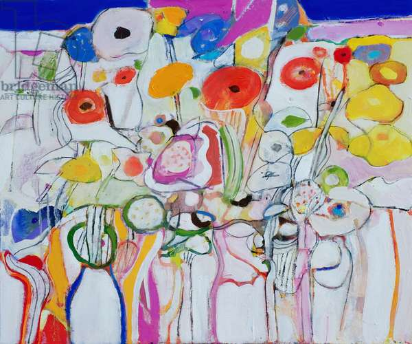Flowers for Christmas (oil on canvas)