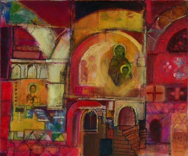 Memory of Umbria (oil on canvas)