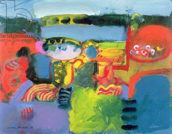 Estuary, 1990 (oil on canvas)