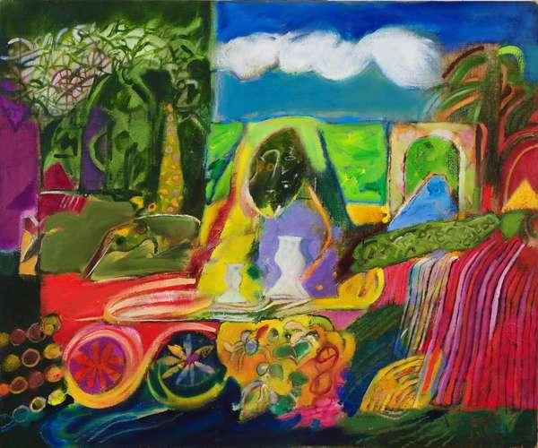 The Magicians Garden (oil on canvas)
