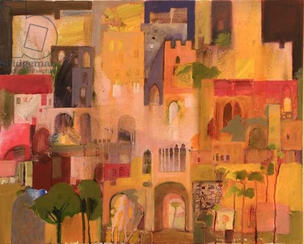 Castle (oil on canvas)