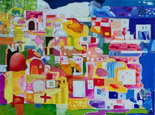 Mykonos, 2013 (oil on canvas)