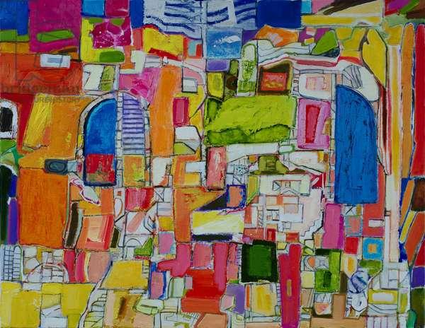 Calle Fiesta (oil on canvas)