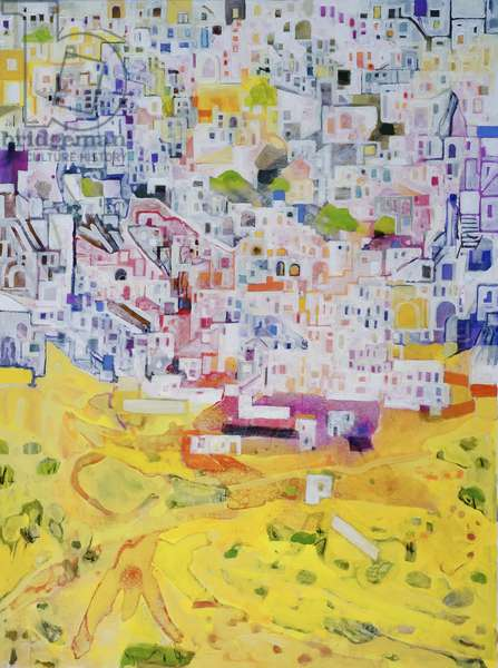 Arab District (oil on canvas)