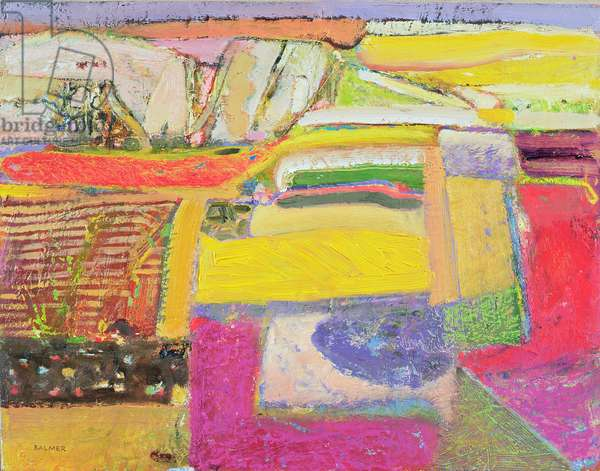 Lavender farm, 2006 (oil on canvas)