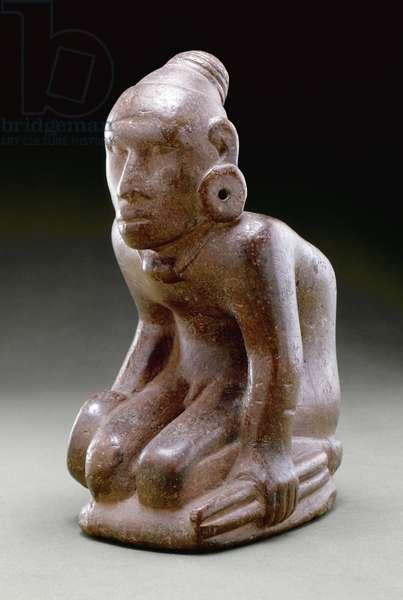 Big boy effigy pipe, 1200-1350 (bauxite)