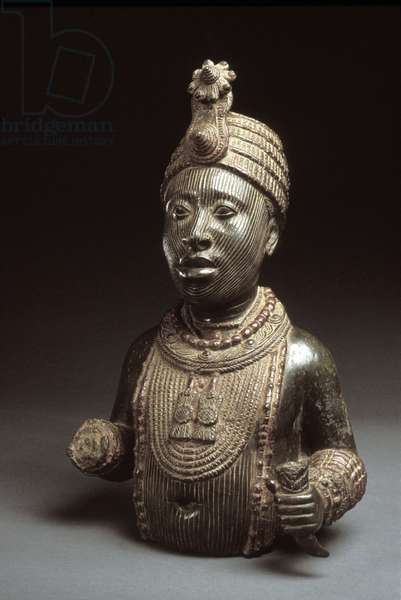 Oni, from Ife, 15th - 16th century (zinc brass)