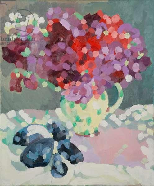 Sweet Peas and Seashells, 2006 (oil on canvas)