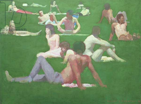 Park Group I, 1990 (oil on canvas)