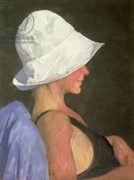 Woman in Hat, 1982 (oil on panel)