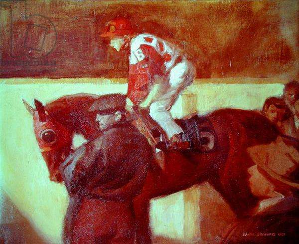 Before the Race, 1959 (oil on canvas)