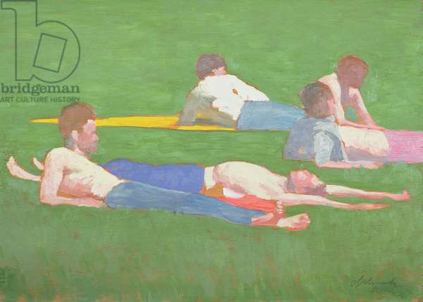 Reclining Figures, 1991 (oil on canvas)
