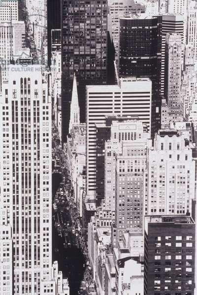 Urban cityscape from skyscraper