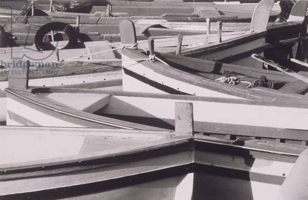 Boats Moored on Pier
