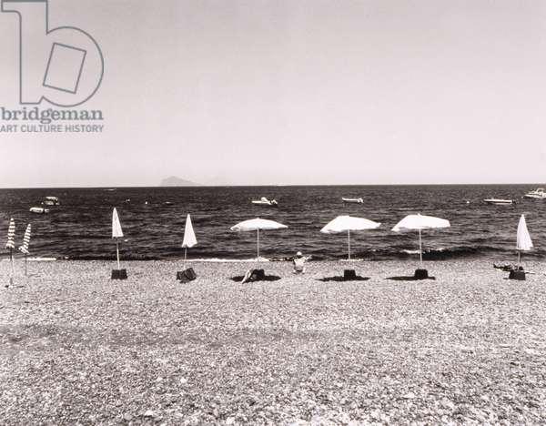 Row of Beach Umbrellas