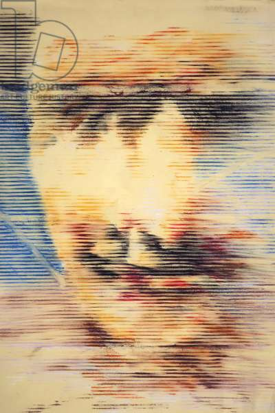 Head 1 , 1998 (oil pastel on paper)