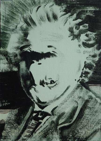 Einstein, 2013 (acrylic on board)