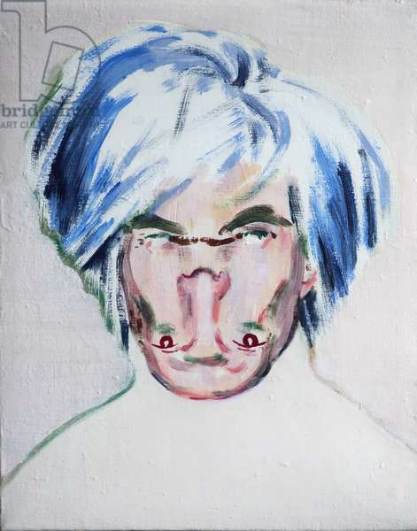 Shockheaded Warhol, 2013 (acrylic on canvas)