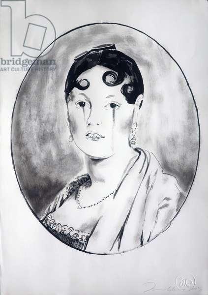Ingre Girl 3, 2003 (ink on paper)