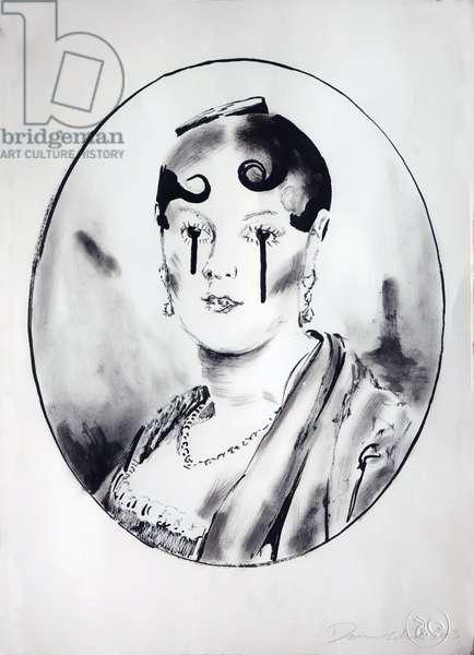 Ingre Girl 4, 2003 (ink on paper)
