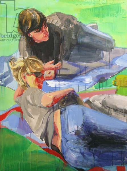 Rainbow, 2008 (acrylic on paper mounted on canvas)
