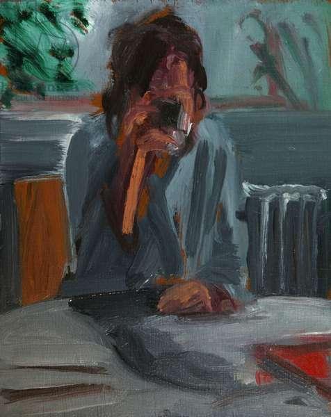 Untitled, Forearm study, 2004 (oil on wood)