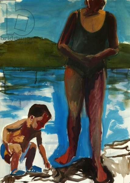 Walden Pond,2003 (casein)