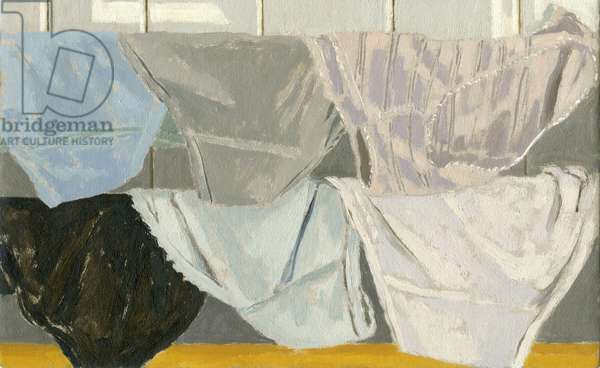 Les culottes I, 2004 (oil on cardboard)