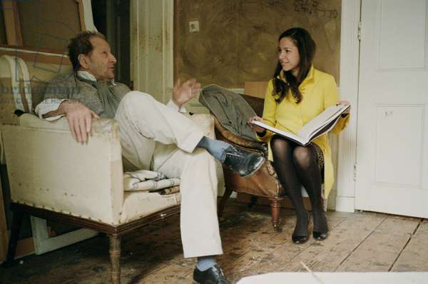 Lucian Freud with Pilar Ordovas (photo)