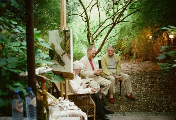 Auerbach and Hockney, Summer Evening in the Garden, 2003 (photo)
