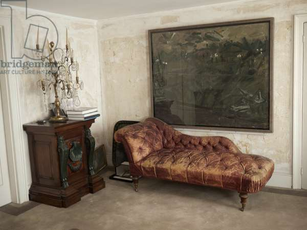 Interior of Lucian Freud's studio with Frank Auerbach' 'Primrose Hill - Winter' (1981-82), 2011 (photo)