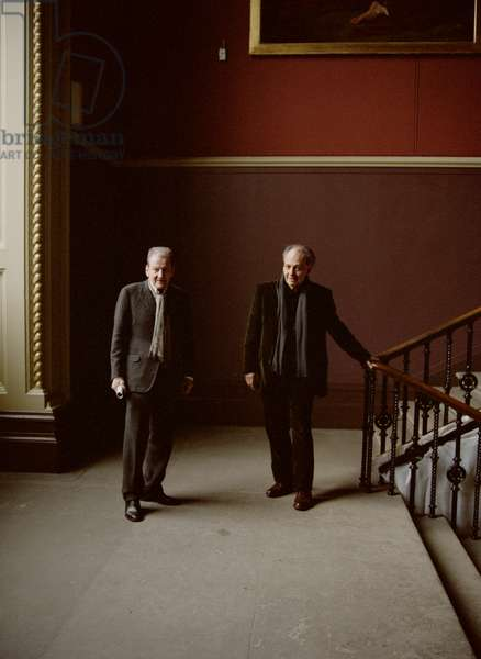 Lucian Freud and Frank Auerbach at the Victoria and Albert Museum, London, 25th April 2006 (photo)
