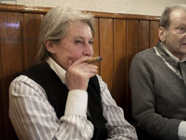 Lucian Freud and Lady Jane Willoughby, La Trainera, Madrid, 2010 (photo)
