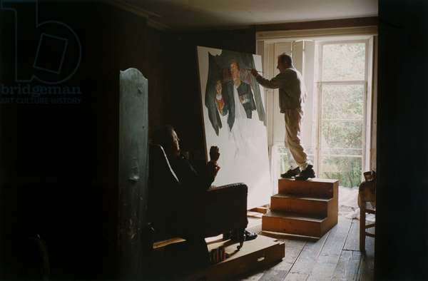 Freud painting the Brigadier, 2003 (c-type photo)