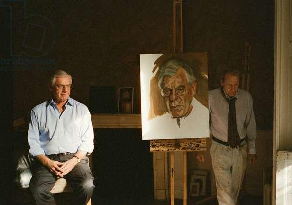 Lucian with William Aquavella, 2005 (c-type photo)