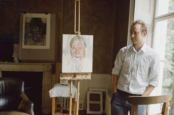 Sebastian Smee at Lucian Freud's studio, 2006 (photo)