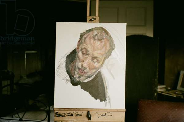 Studio interior with 'David' by Lucian Freud, 2003 (photo)